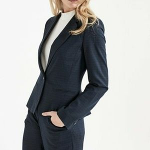 Long Tall Sally Flecked Navy Suit Jacket